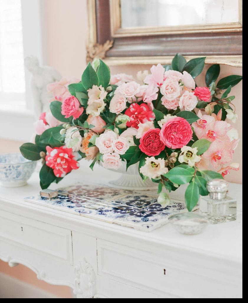 Arrangement by Gathering Floral + Event Design.