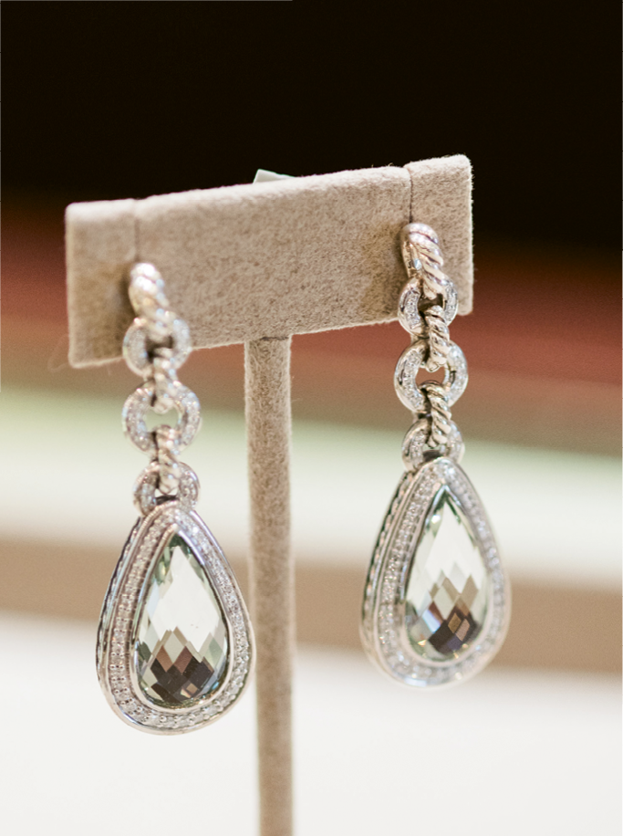 Sip & See At REEDS® Jewelers. David Yurman earrings. Photograph by Marni Rothschild Pictures