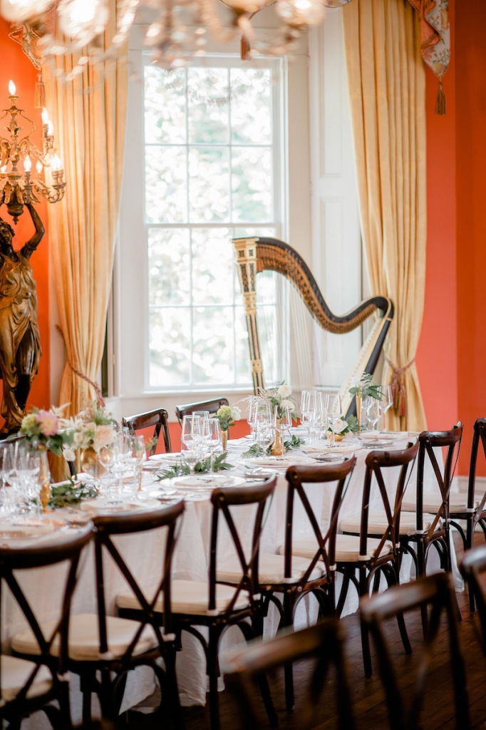 Wedding design by Ooh! Events. Photograph by Brandon Lata at the William Aiken House.