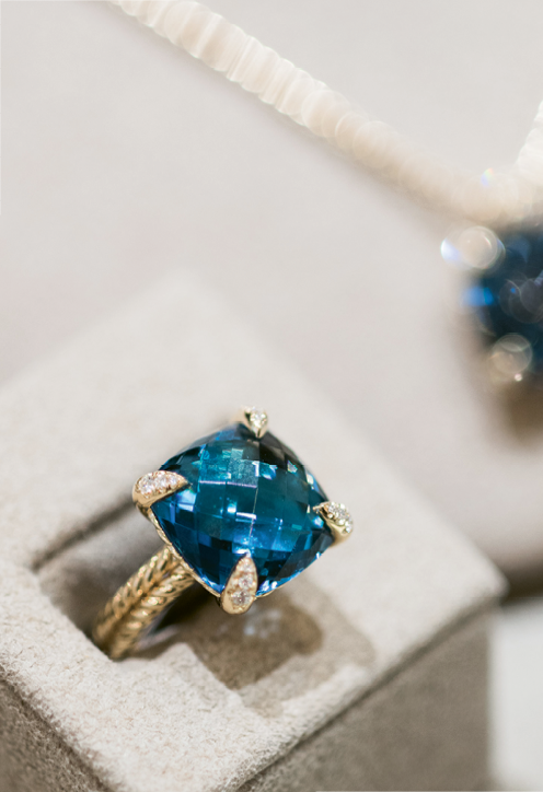 Sip & See At REEDS® Jewelers. David Yurman ring. Photograph by Marni Rothschild Pictures