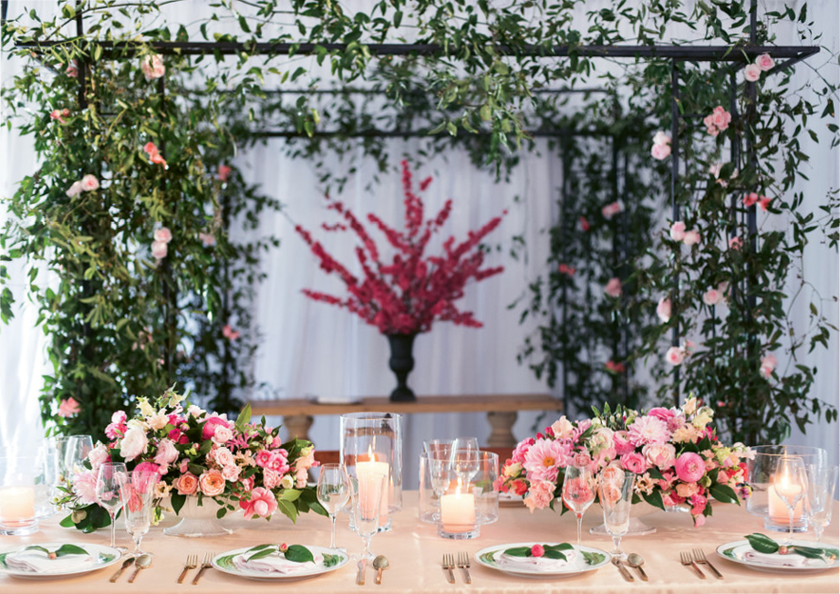 Spring Bridal Show: Tablescape by Presenting Sponsor Gathering Events. Photograph by Marni Rothschild Pictures