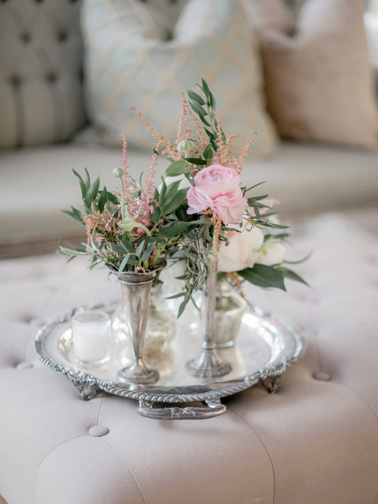 Wedding design and rentals by Ooh! Events. Florals by Out of the Garden. Photograph by Brandon Lata at the William Aiken House.