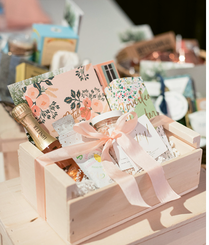 Spring Bridal Show: Giveaways from A Signature Welcome. Photograph by Marni Rothschild Pictures