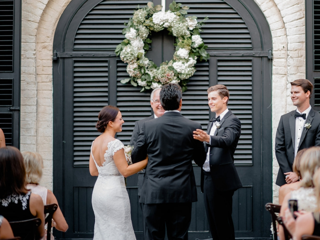 Wedding design by Ooh! Events. Florals by Out of the Garden. Photograph by Brandon Lata at the William Aiken House.