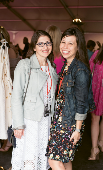 Spring Bridal Show: Twirl New York's Anne Chertoff and Glamour.com's Kim Fusaro. Photograph by Marni Rothschild Pictures