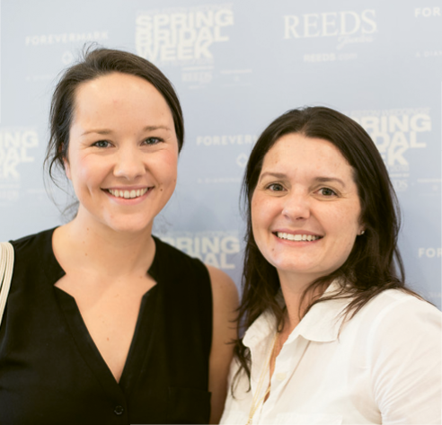 Sip & See At REEDS® Jewelers: Kate McDonald and LulaKate's Lucy Noble and Carrie Glasscock. Photograph by Marni Rothschild Pictures