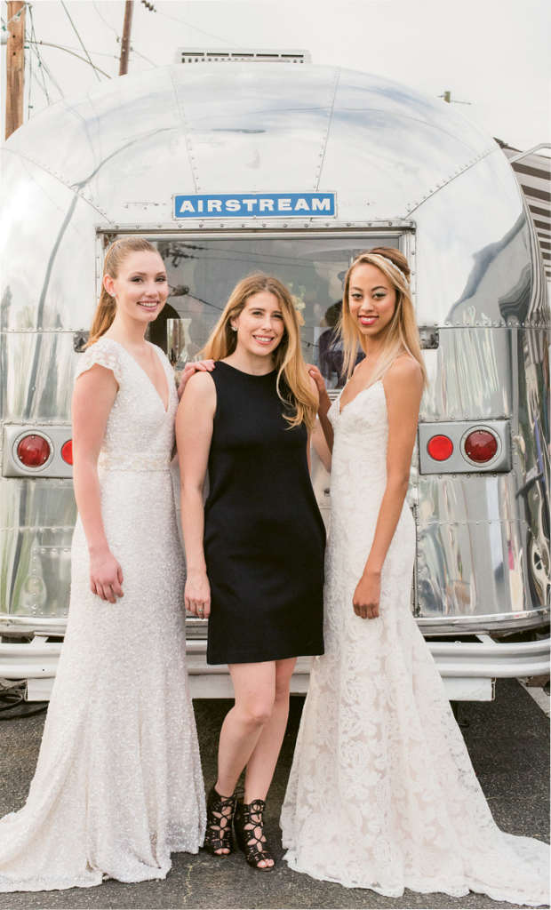 Ooh! What a Pop-Up Party: Emily Dantus (center) of Lovely Bride. Photographed at Ooh! Events Design Center by Marni Rothschild Pictures.