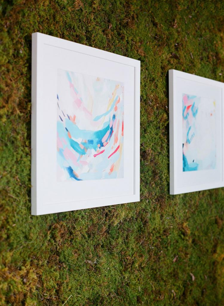 Prints by Atlanta artist Britt Bass Turner purchased as décor now hang in the couple's home.