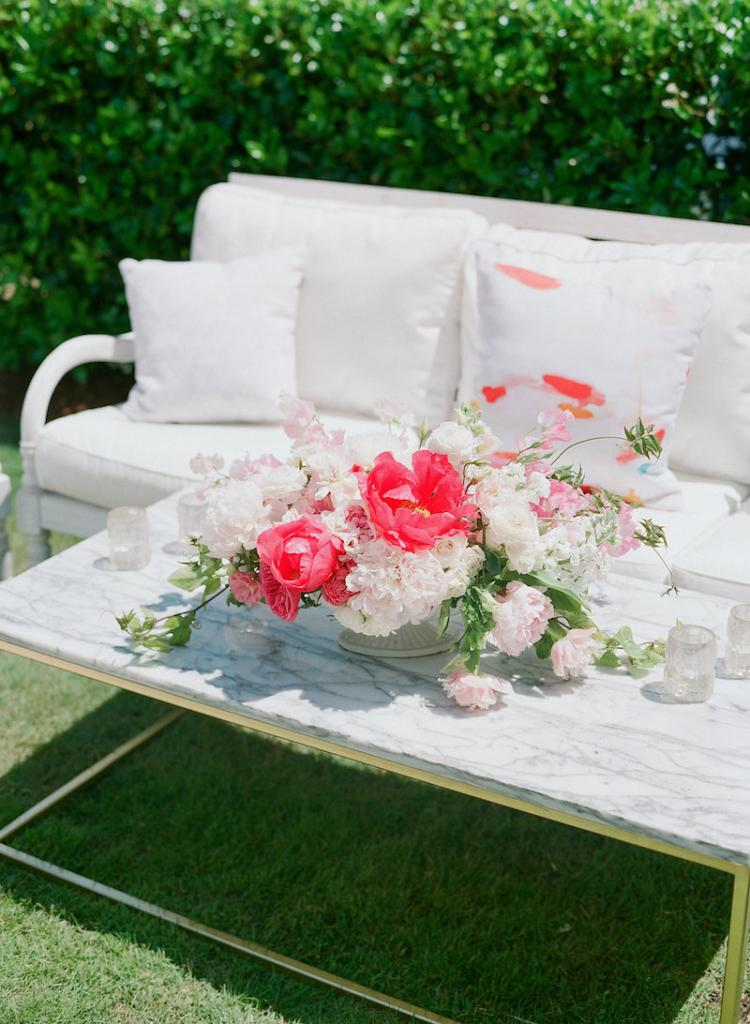 Florals and decor by Gathering Floral + Event Design. Photograph by Corbin Gurkin at a private home South of Broad.