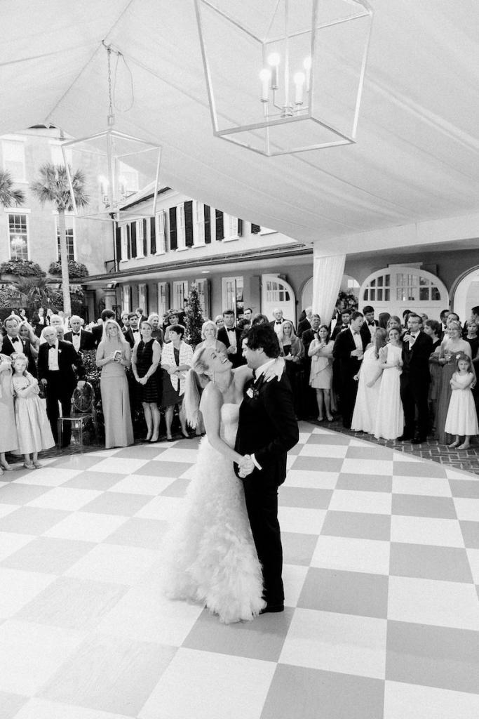 Tent decor by Blossoms Events. Wedding design by Kristin Newman Designs. Photograph by Corbin Gurkin.