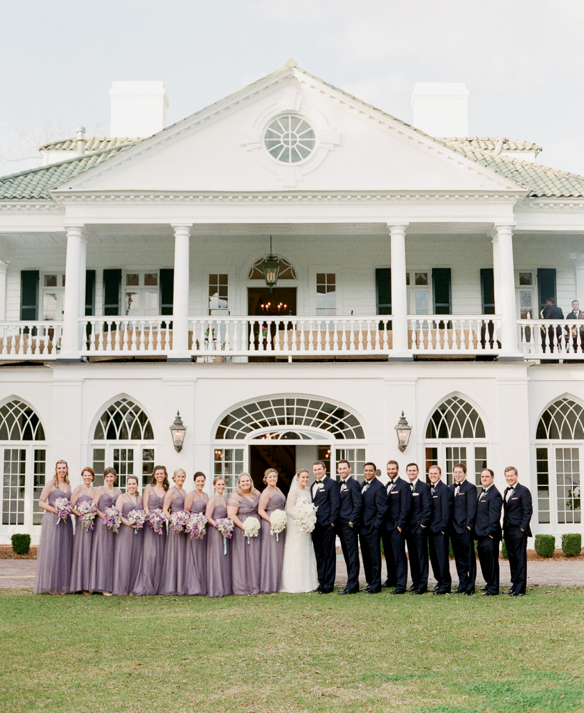 """""""Laura, her mother, and I spent an entire day last July visiting churches  and reception venues trying to figure out what would be the best fit,"""" Tara recalls.  """"But when they saw Lowndes Grove, they were blown away."""" (Photo by Corbin Gurkin)"""