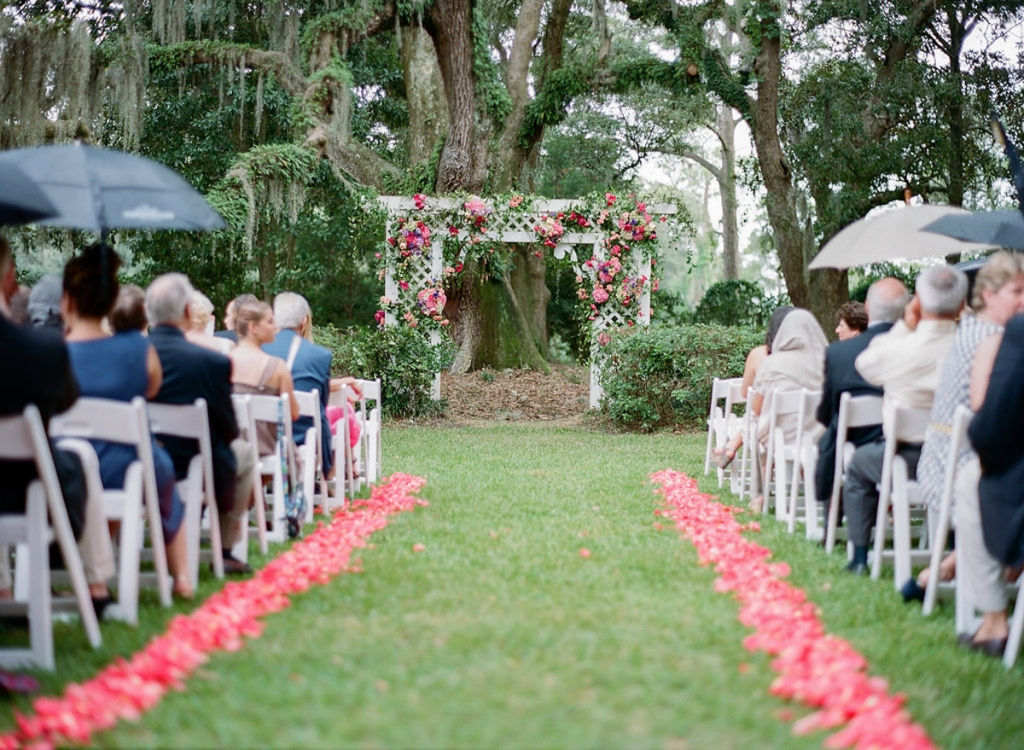 Wedding and floral design by Engaging Events. Chairs from EventWorks. Photograph by Marni Rothschild Pictures at the Legare Waring House.