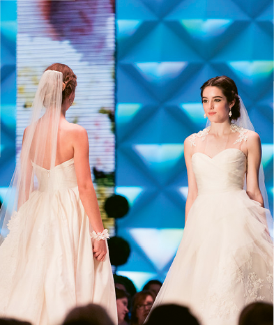 Spring Bridal Show: Saturday welcomed runway shows, a giveaway booth, luxe shopping and sampling, a stunning setting by Gathering Events, and even a surprise proposal. Photograph by Marni Rothschild Pictures