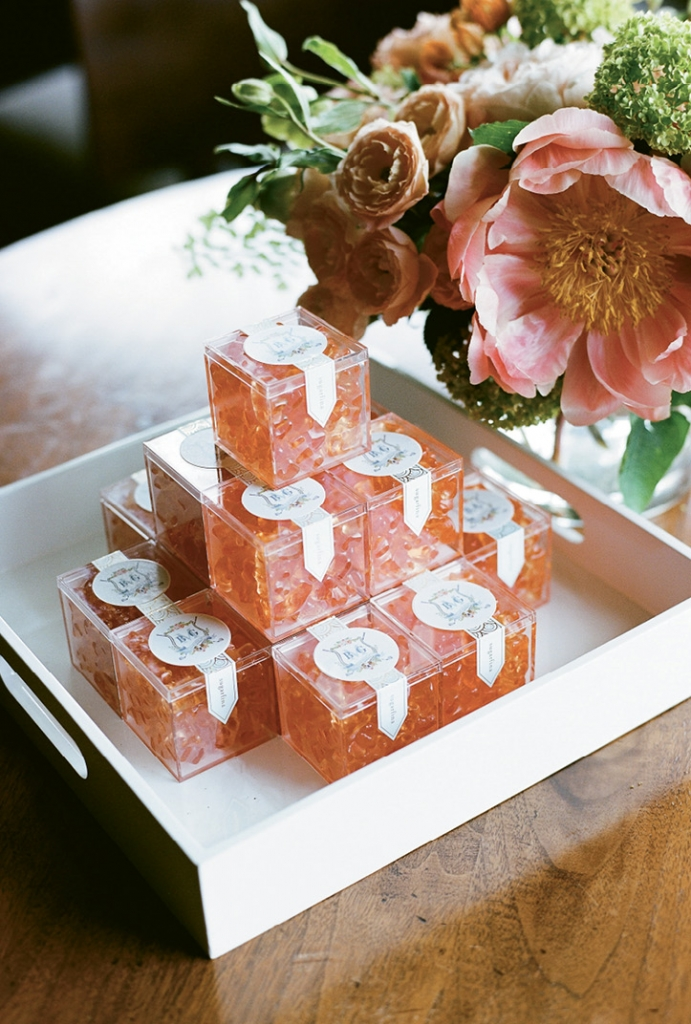 """""""Although I didn't get to drink rosé on my wedding day,"""" says Brooke, """"I was perfectly content with my rosé gummies."""""""