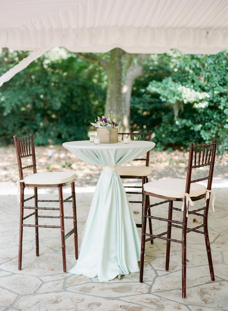 Rentals from EventWorks. Linens from BBJ Linen. Photograph by Marni Rothschild Pictures at the Legare Waring House.