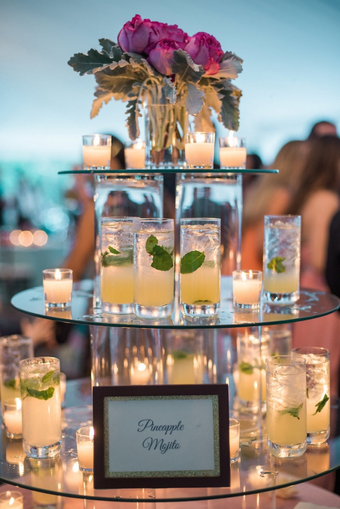 Bar service by Cru Catering. Photograph by Marni Rothschild Pictures.