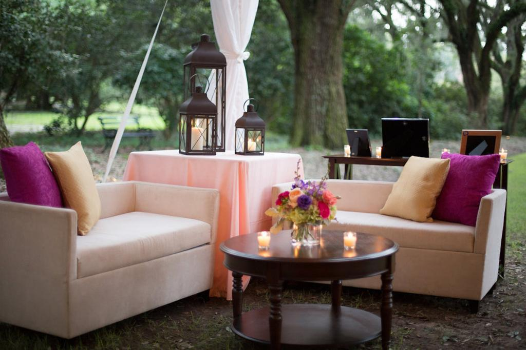 Event and floral design and lounge furniture by Engaging Events. Photograph by Marni Rothschild Pictures.