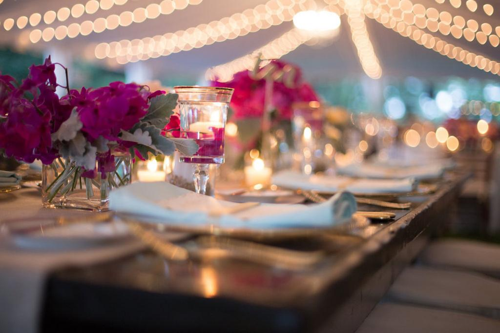 Tabletop rentals from EventWorks. Event and floral design by Engaging Events. Photograph by Marni Rothschild Pictures.