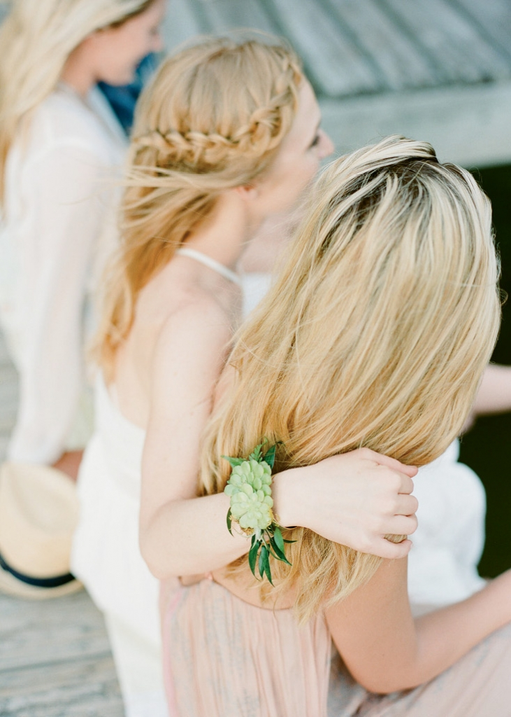 Make the bride-to-be feel extra special with a custom corsage. (Photo by Marni Rothschild Pictures)
