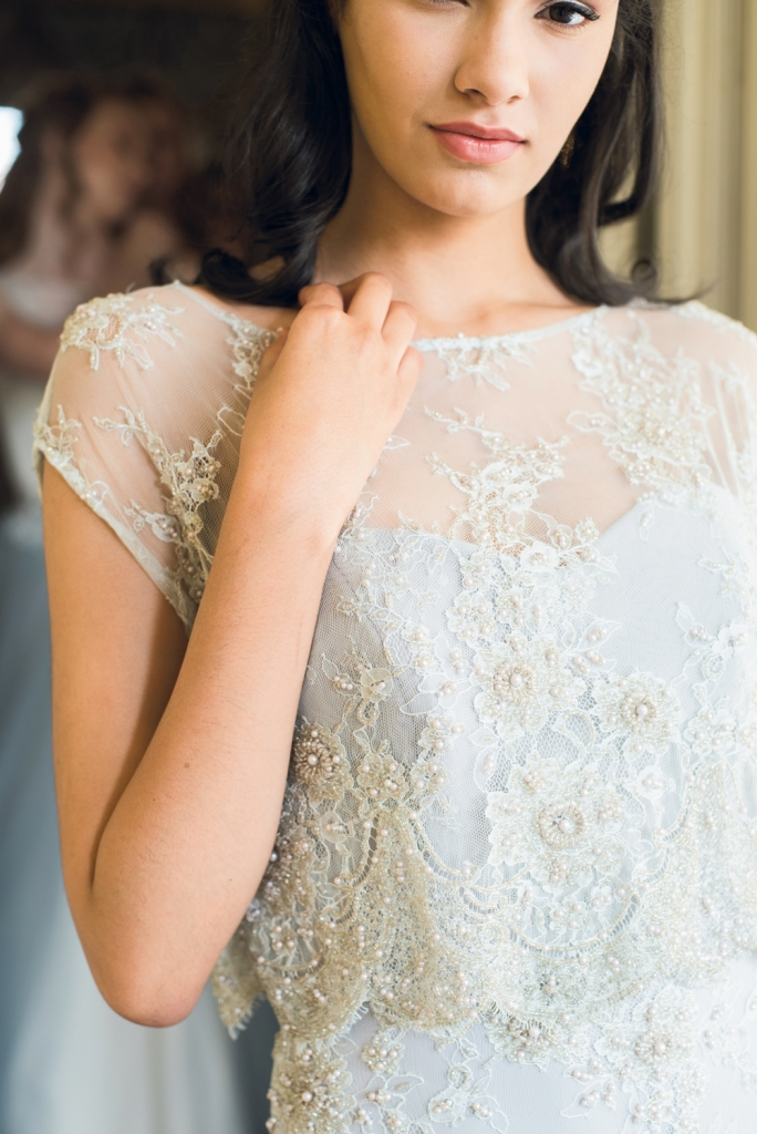 """TREND: Toppers GOWN: Kate McDonald Bridal's """"Gatsby,"""" available through Kate McDonald Bridal & Maids"""
