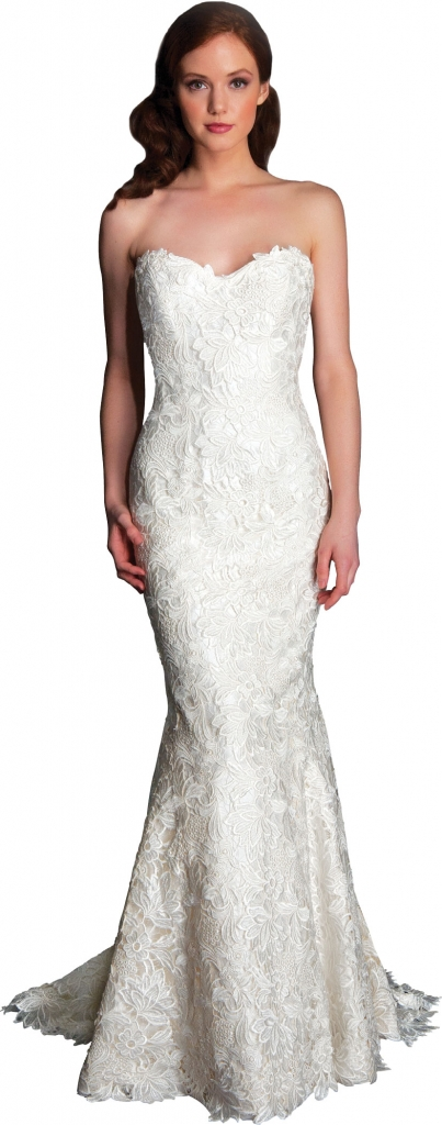 """{Timeless Trend} Dimensional Statement Lace; gown: """"Holland;"""" Modern Trousseau flagship stores in Charleston, Savannah, and Nashville"""