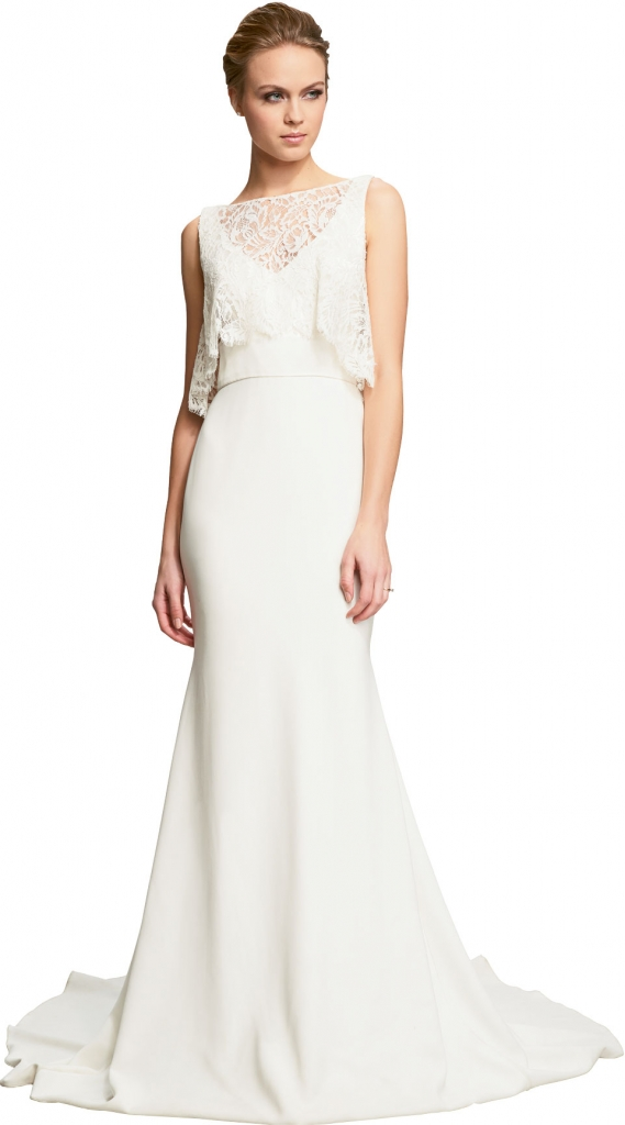 """{Timeless Trend} Layered Tank; gown: """"Natalia"""" by Theia; Fabulous Frocks"""