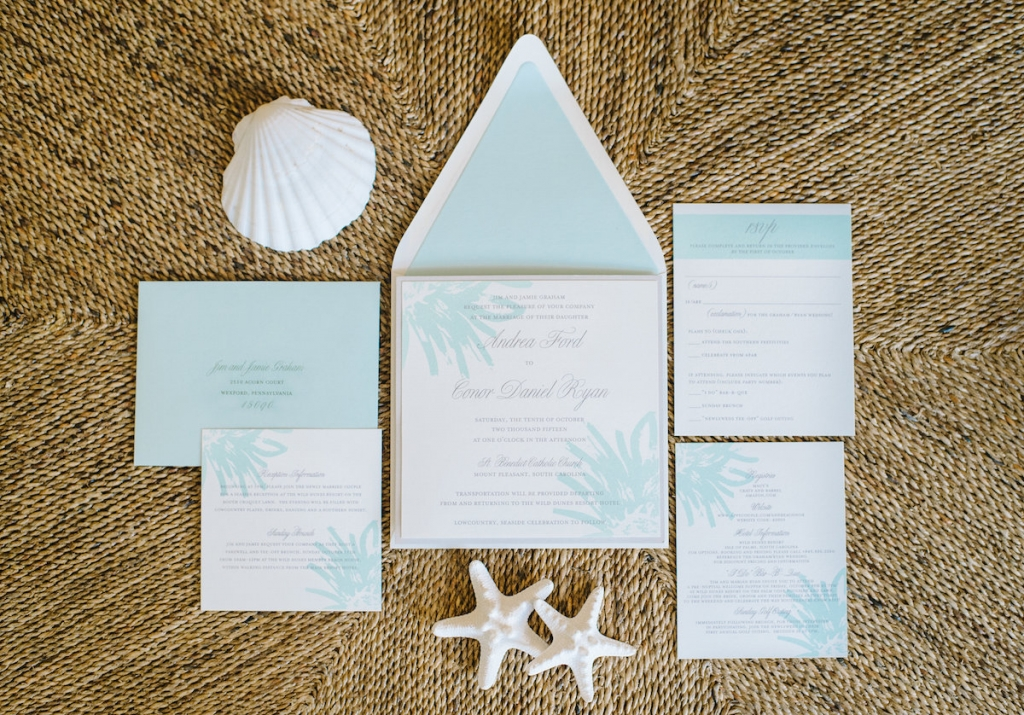 Stationery suite by The Silver Starfish. Image by Aaron and Jillian Photography.