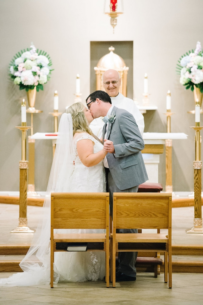Image by Aaron and Jillian Photography at St. Benedict's Roman Catholic Church.