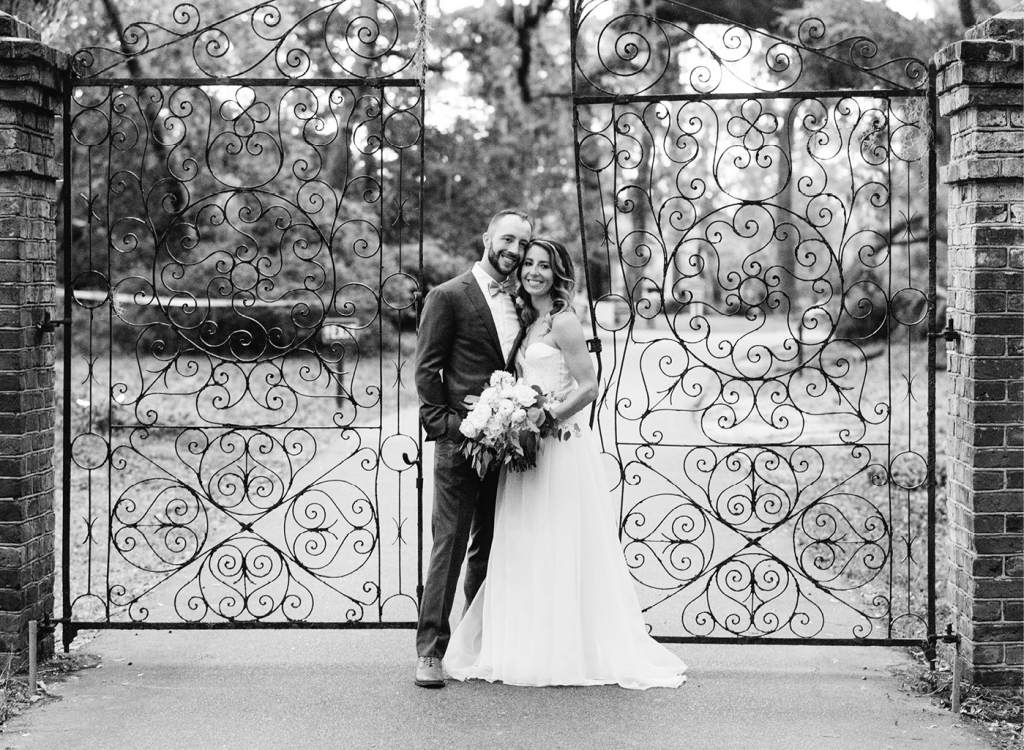 """""""They are quite possibly the nicest people we have ever met,"""" says planner Lauren Fox of St. Louis native Dani, a marketing specialist, and Chicago-born Andrew, who works in medical sales.  <i>Image Aaron & Jillian Photography</i>"""