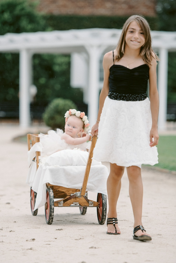 Nieces of the bride made up the flower-girl procession. (Photograph by Sean Money + Elizabeth Fay)