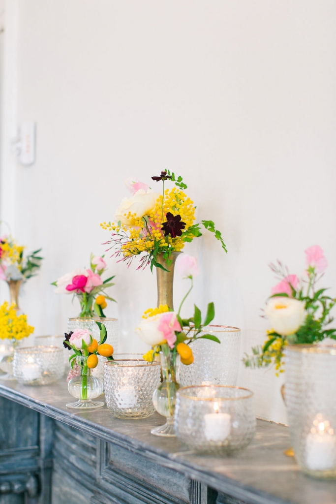 Wedding design be ELM Events. Florals by Branch Design Studio. Photograph by Dana Cubbage Weddings at the Gadsden House.