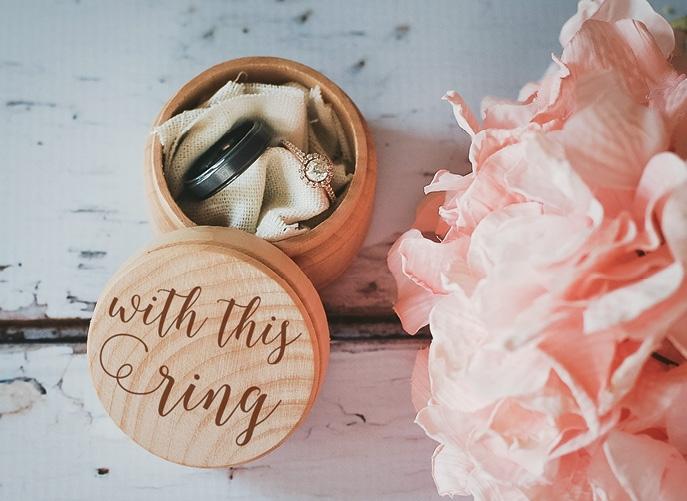 Flowertown Weddings' custom ring bearer box (Photo courtesy of the vendor)