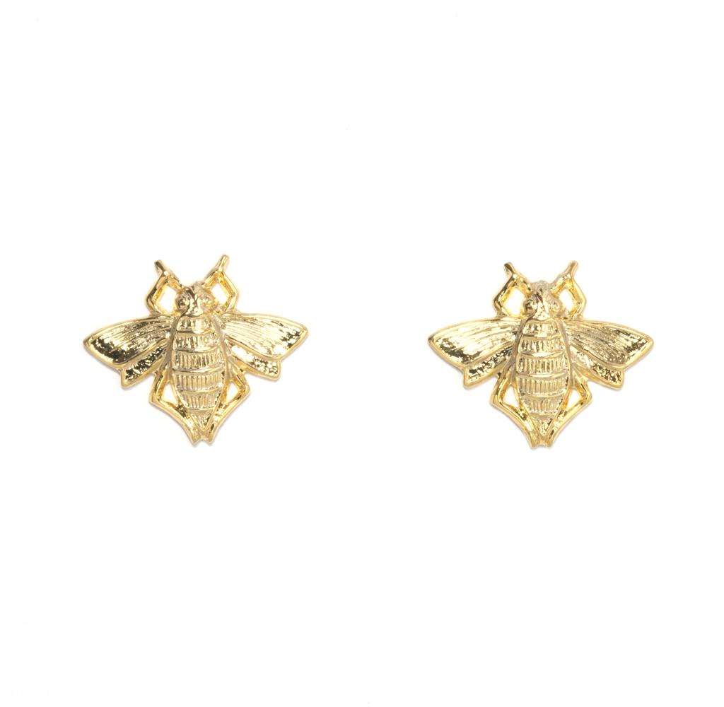 Stud bee earrings ($60)