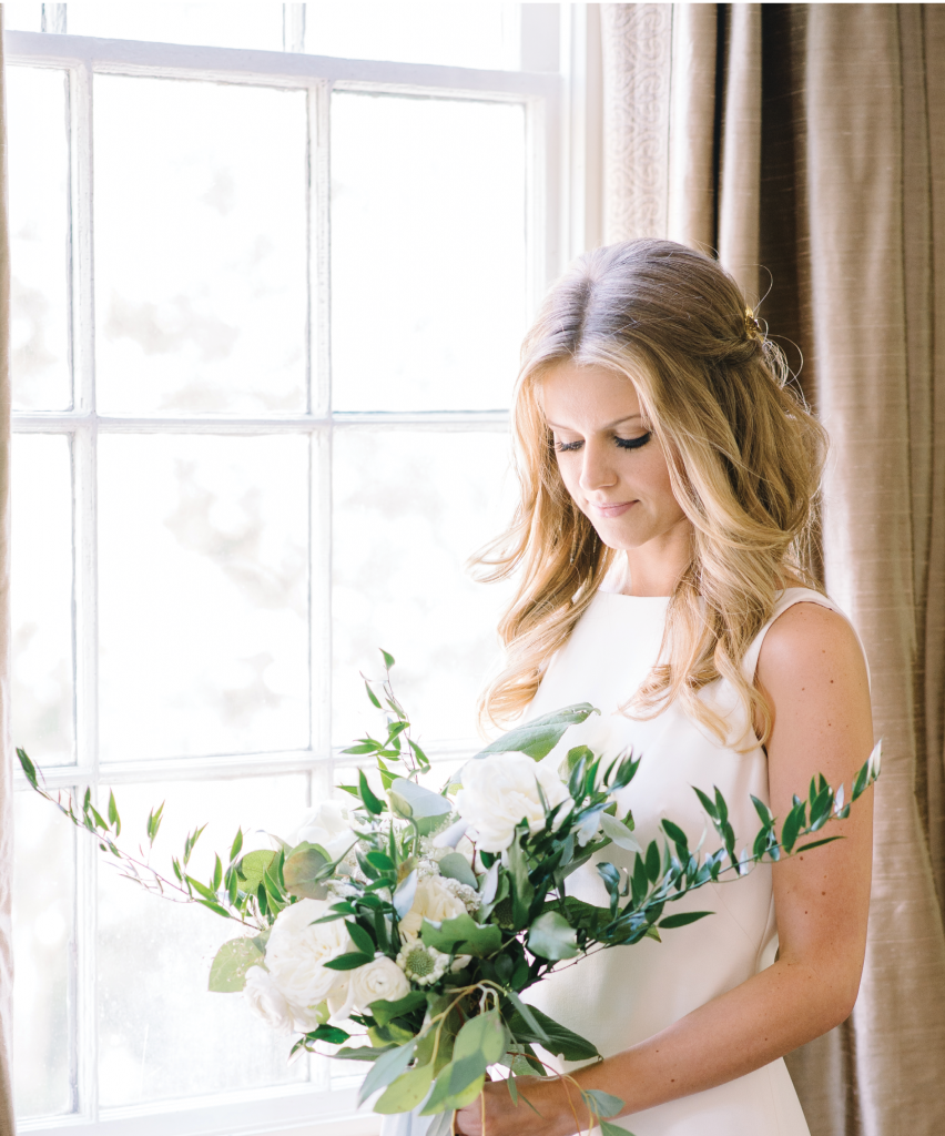 Bride Jess' bridal look (and Big Day) shared a palette and style that works any time of year. (Photo by Aaron & Jillian Photography)