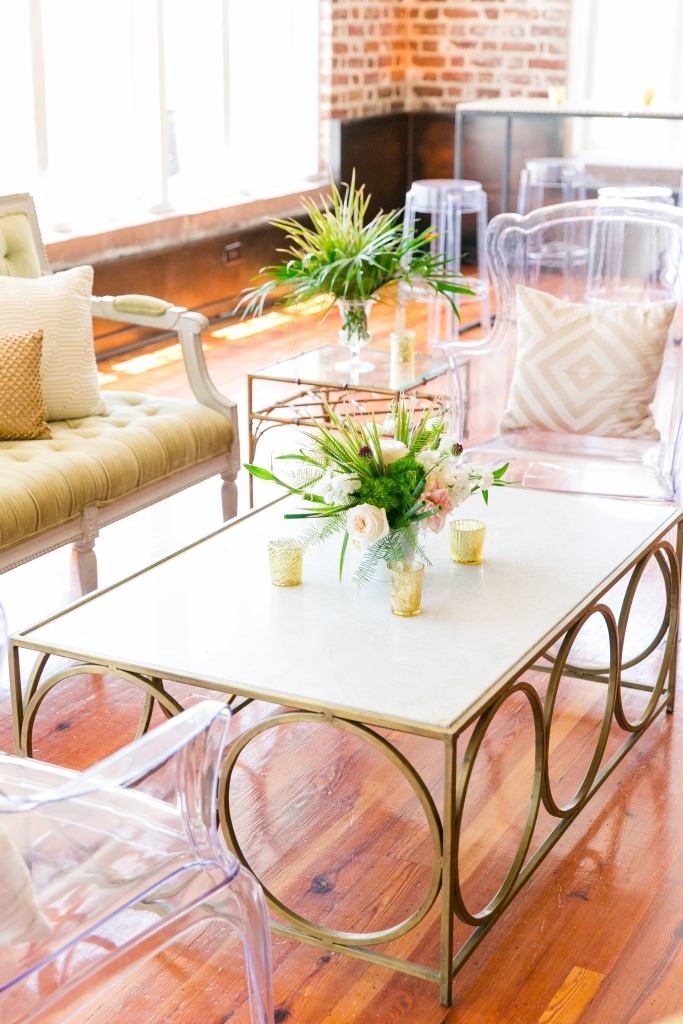 """Home design and wedding design can be different,"" planner Lauren Miller says. ""Together, we used Kate's interiors background and our event experience to pull it all together."" <i>Photograph by Dana Cubbage Weddings</i>"