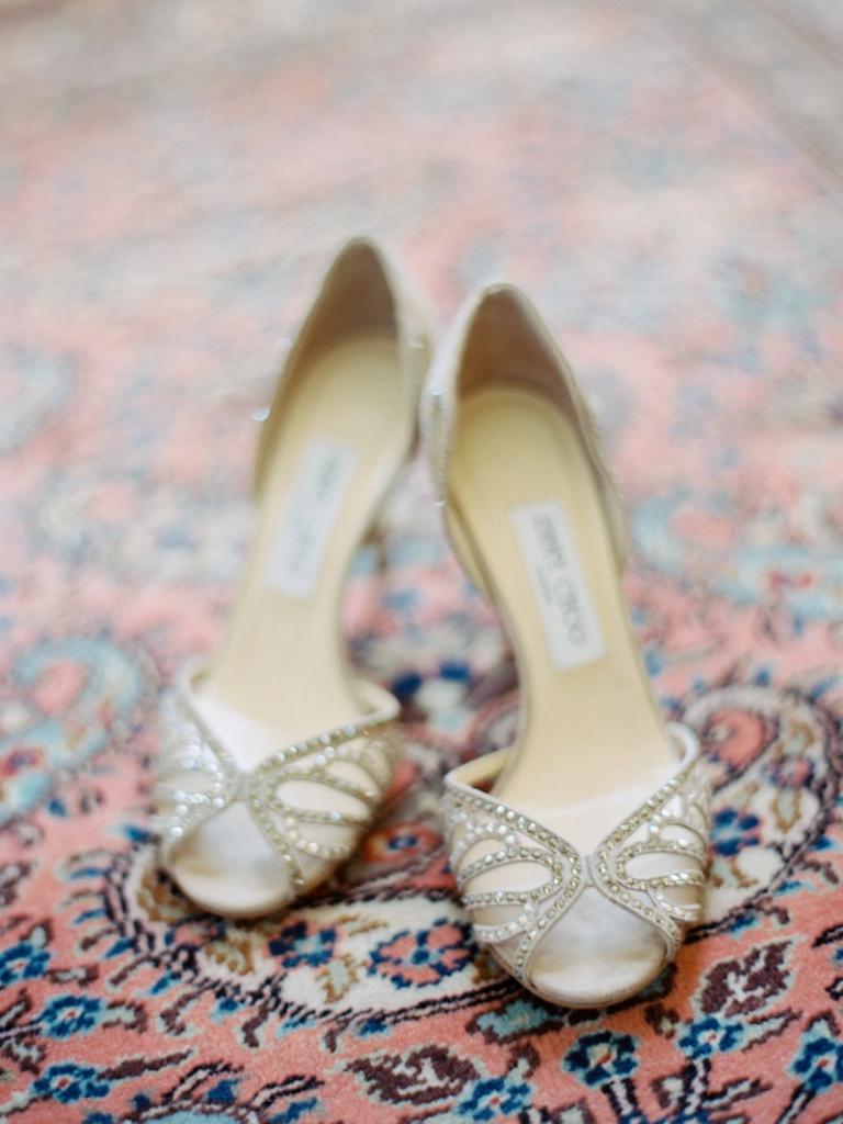 Bride's shoes by Jimmy Choo. Image by Ryan Ray Photography.