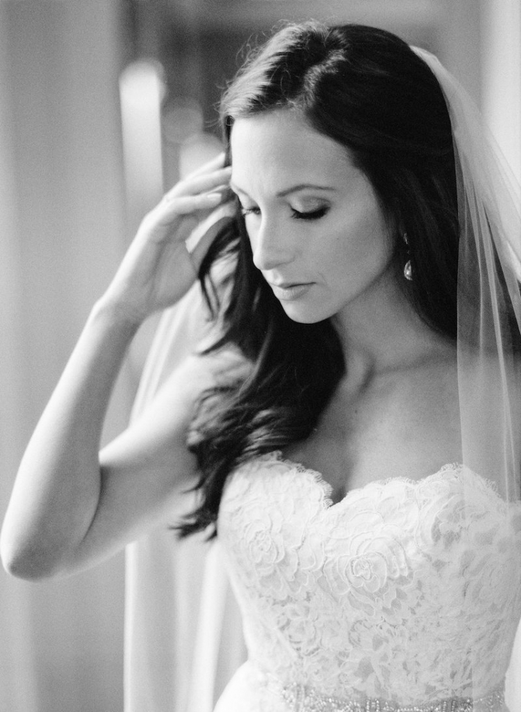 Bride's gown by Anne Barge, available in Charleston through White on Daniel Island. Hair and makeup by Ash and Co. Image by Ryan Ray Photography.