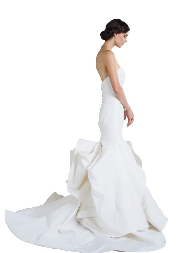 """{Timeless Trend} Bustle; gown: """"Artemis"""" by Sareh Nouri; Maddison Row"""