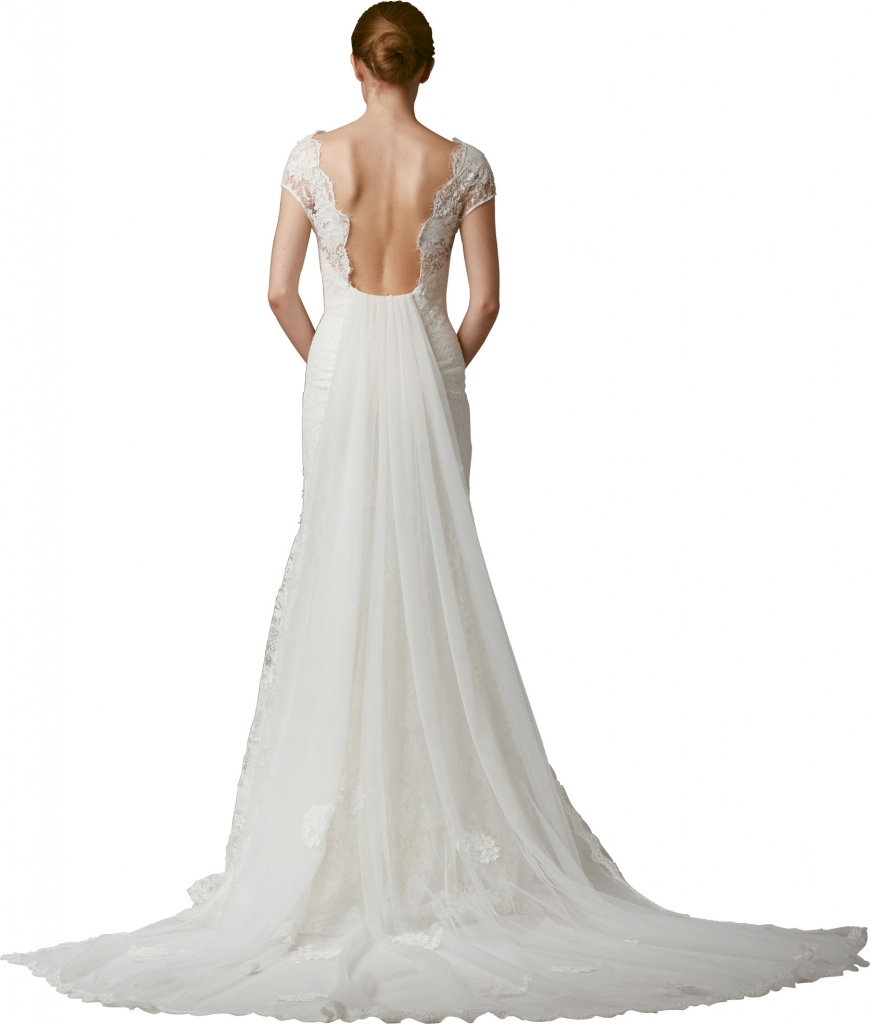 """{Timeless Trend} Watteau Train; gown: """"The Valley"""" by Lela Rose; Maddison Row"""