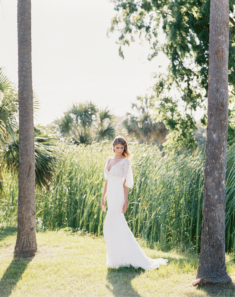"""Casablanca's """"Cheyenne"""" gown from Palmetto Bridal Boutique. Photograph by Perry Vaile"""