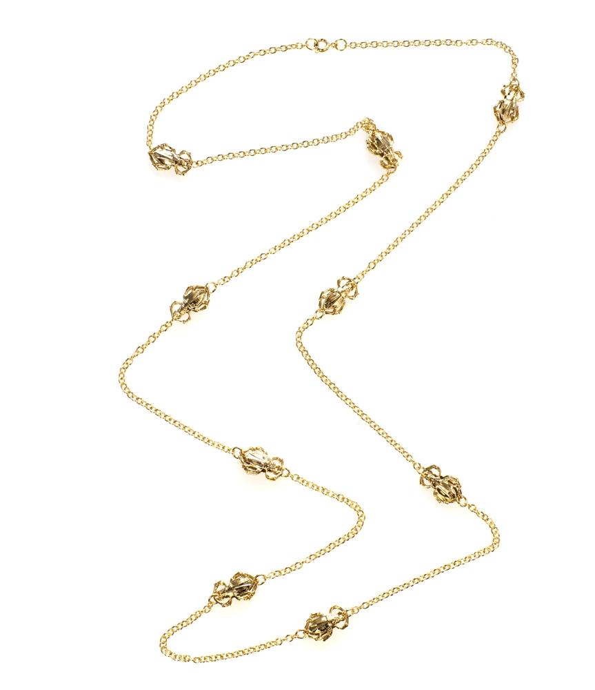 Goldbug long station necklace ($150)