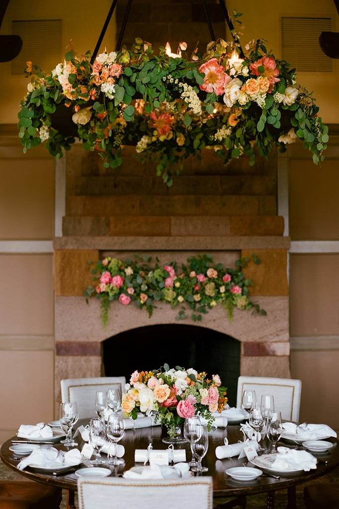 """""""I have never seen so many flowers in one place,"""" says Brooke of the blooms that dressed the ceremony, cake cutting, and brunch."""