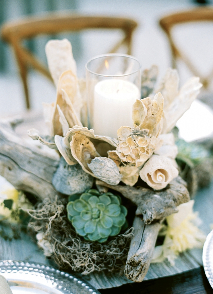 """""""They were so beautiful,"""" says Michelle, mother of the groom, of the centerpieces, """"that I kept one and gave the remaining ones to Maddy, her mother, Audrey, and a few of the Rohde's neighbors who had graciously opened their homes to some of our guests."""""""